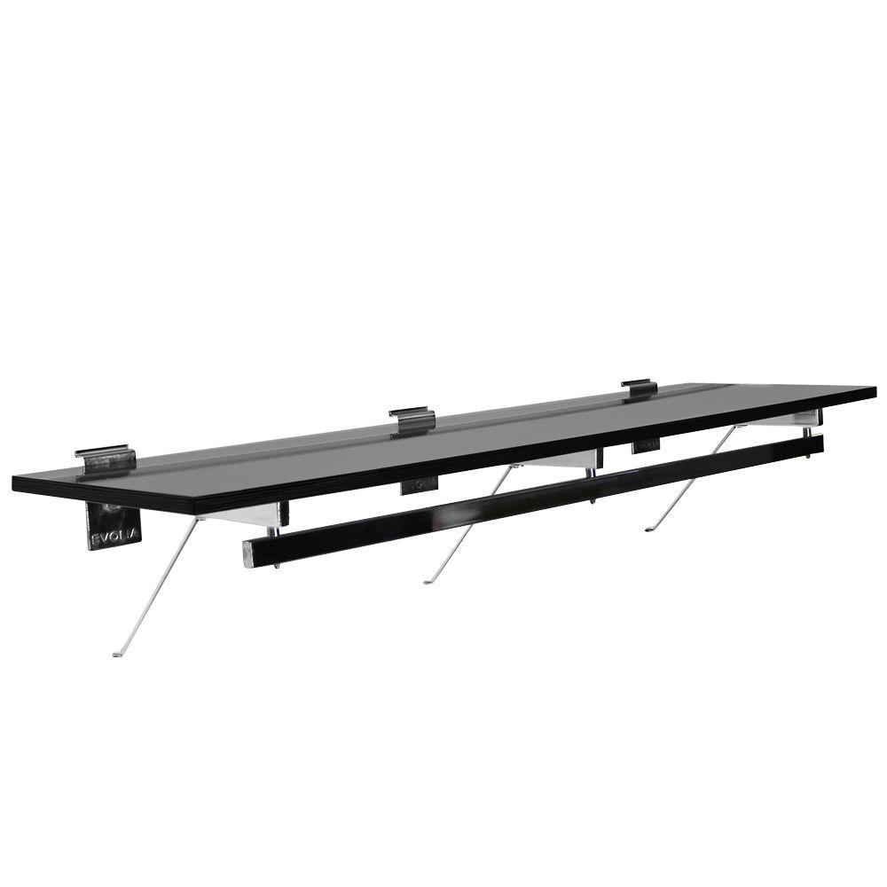 Evolia 48 in. Hang Rod with Melamine Shelf in Black