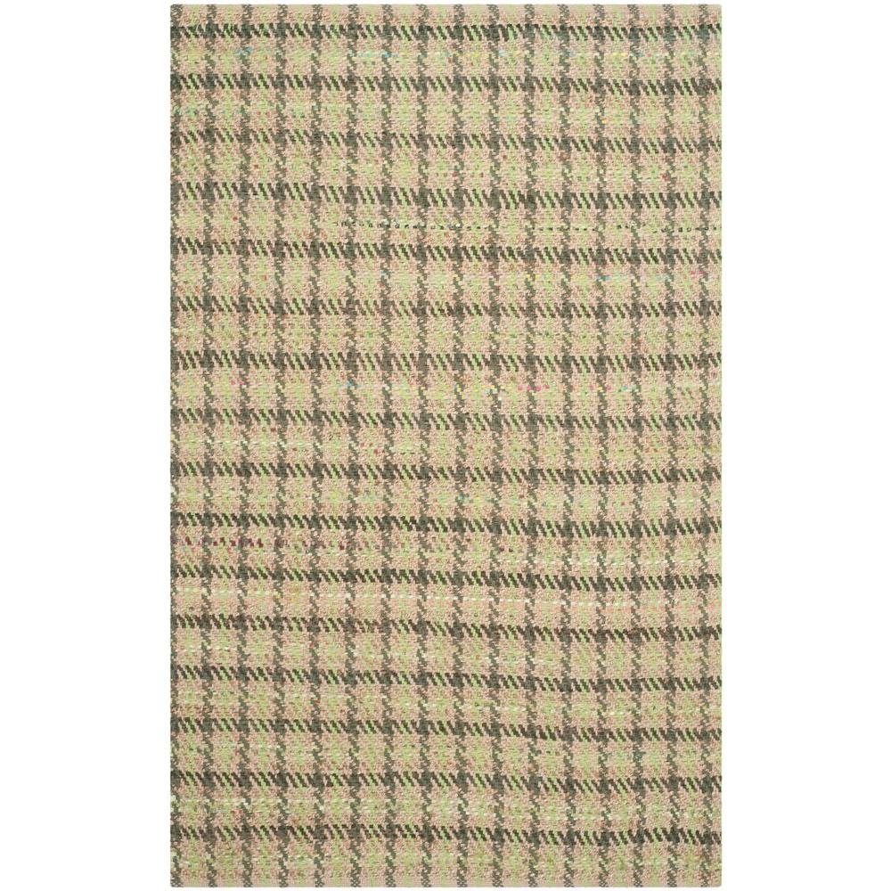 Cape Cod Green/Natural 4 ft. x 6 ft. Area Rug