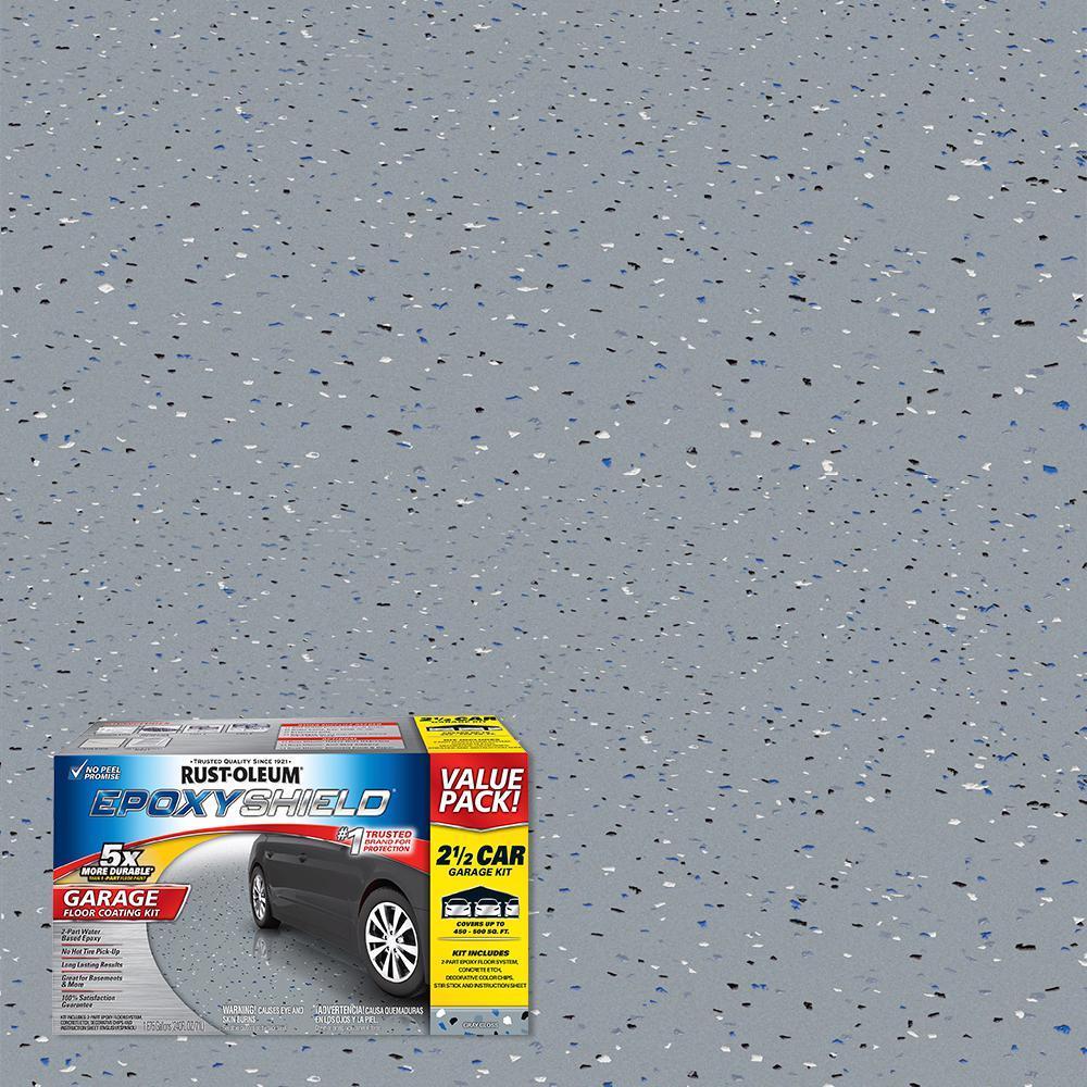 2 Gal Gray Garage Floor Epoxy 261845