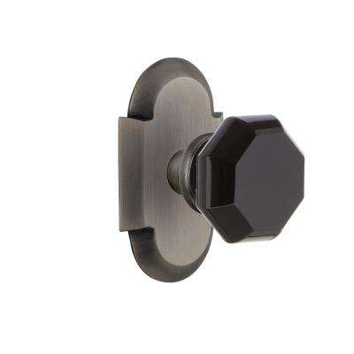 Backset Antique Pewter Privacy Bed/Bath - Pewter - Door Knobs - Door Hardware - The Home Depot