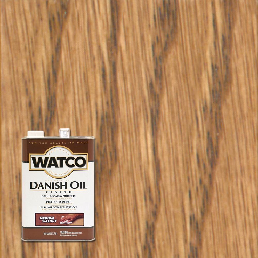 Watco 1 gal. Medium Walnut Danish Oil (2-Pack)
