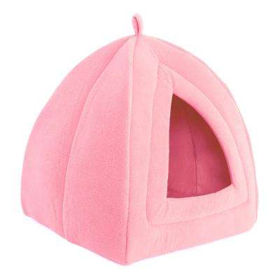 Small Pink Igloo Cat Bed