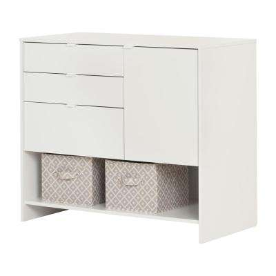 Crea Pure White Storage Cabinet