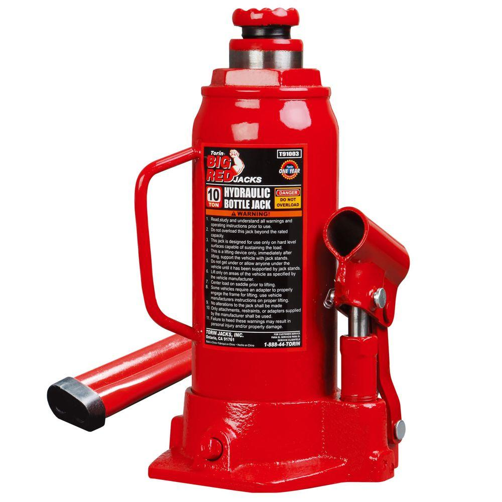 Big Red 10 Ton Bottle Jack T91003 The Home Depot