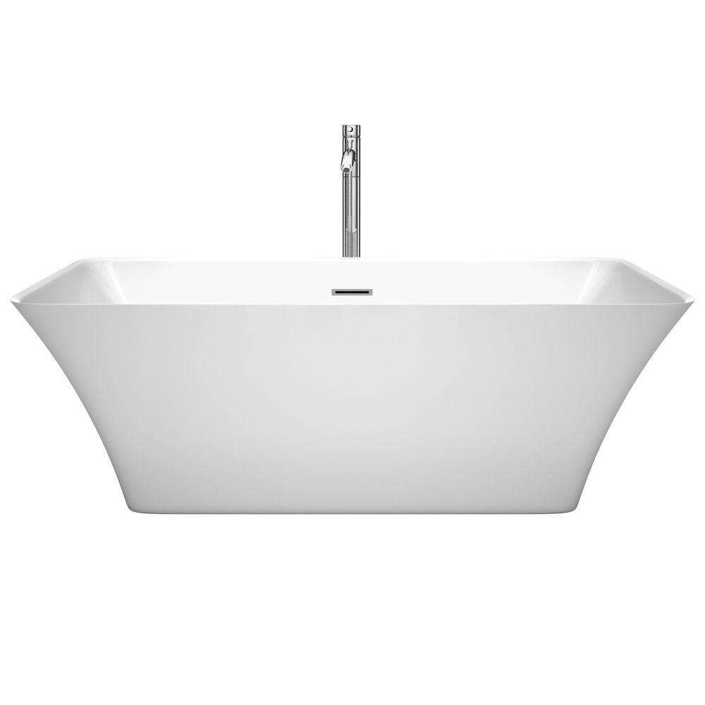 Tiffany soaking tub with floor mounted faucet for Best soaker tub for the money