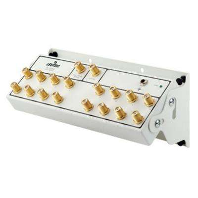 Structured Media Center Premium 1x16 (16-Way) Active Video Amplified Splitter Module - White