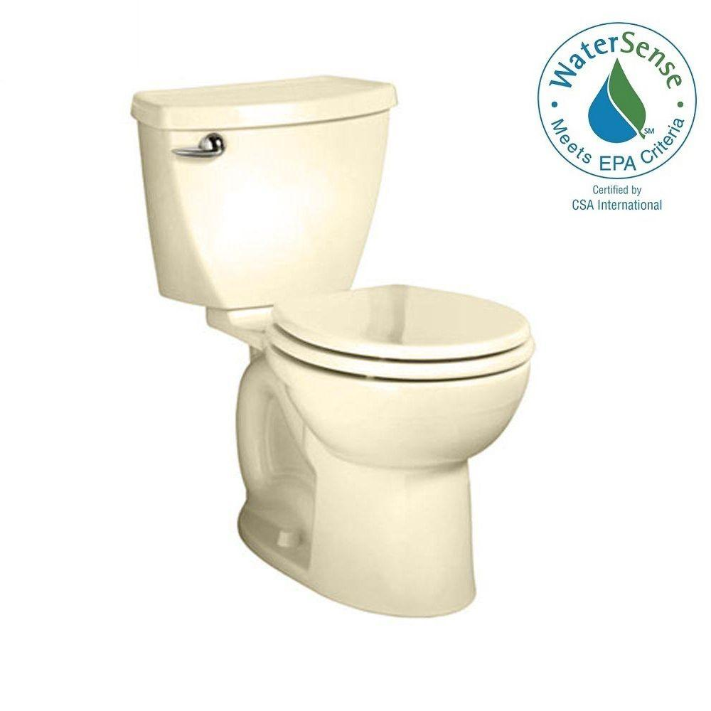 American Standard Cadet 3 FloWise 2-piece 1.28 GPF Tall Height High Efficiency Round Toilet in Bone