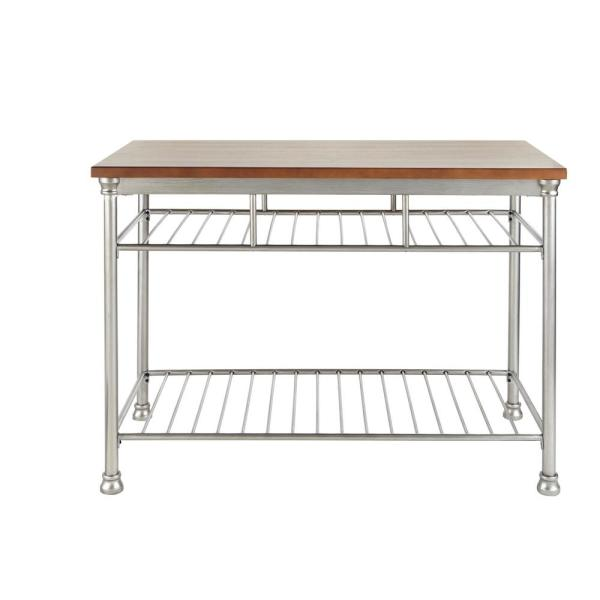 Home Styles The Orleans Vintage Carmel Kitchen Utility Table 5061-94