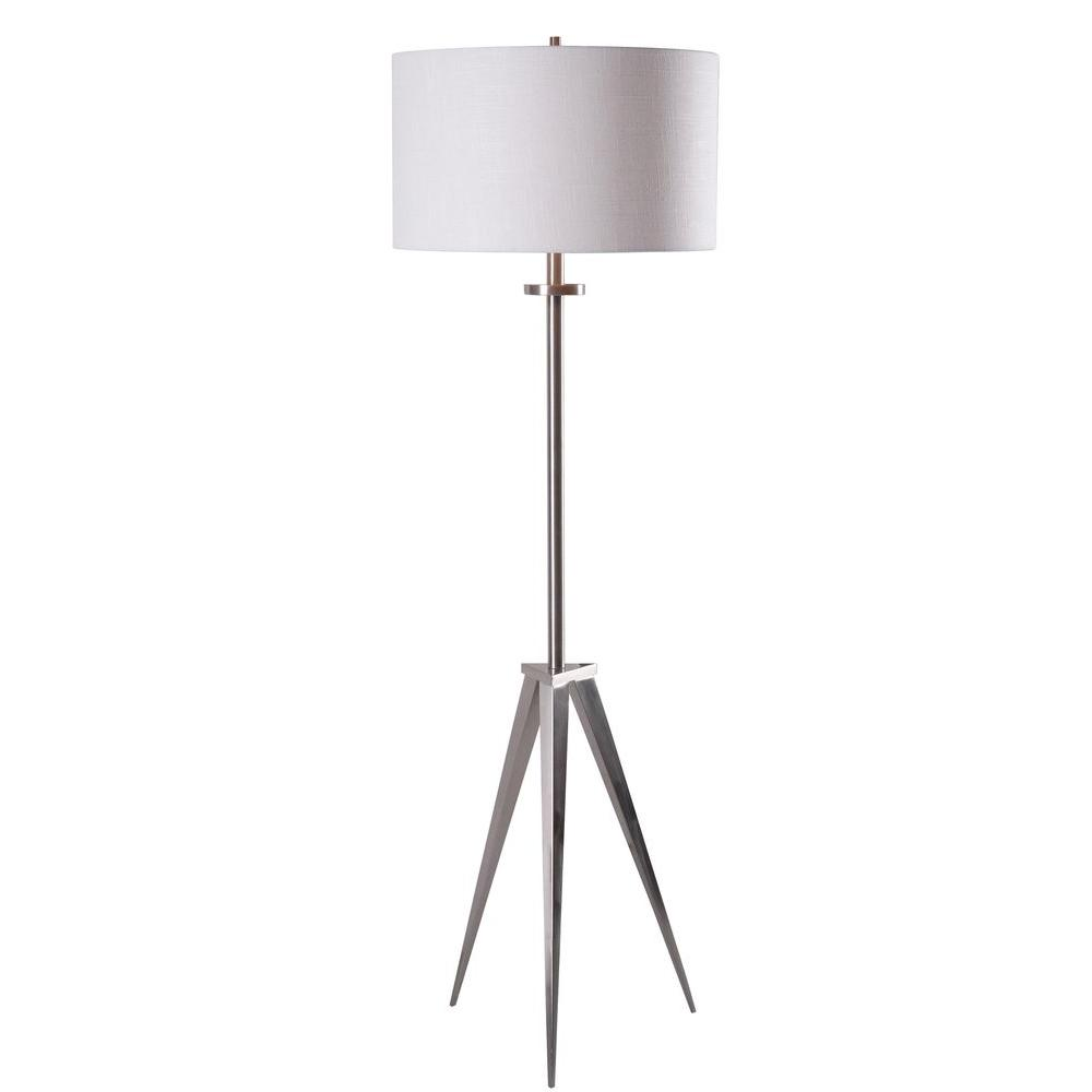 Foster 58 in. Brushed Steel Floor Lamp-32263BS - The Home Depot
