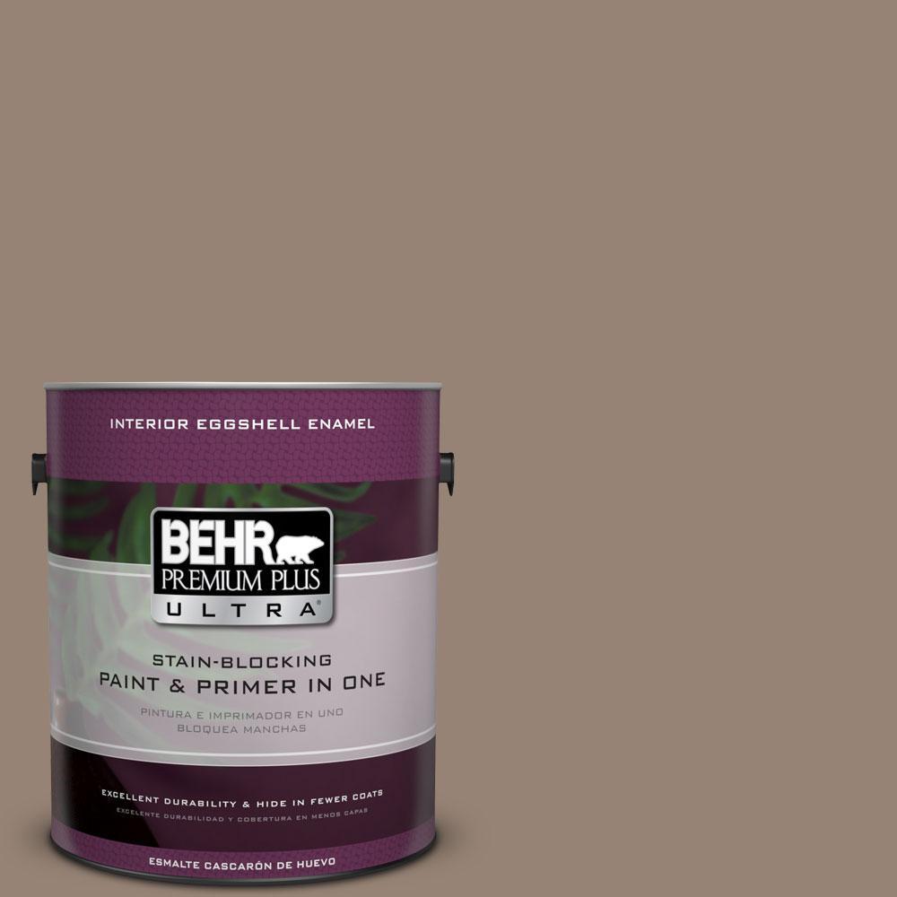 High Quality BEHR Premium Plus Ultra 1 Gal. #N230 5 Dry Brown Eggshell Enamel