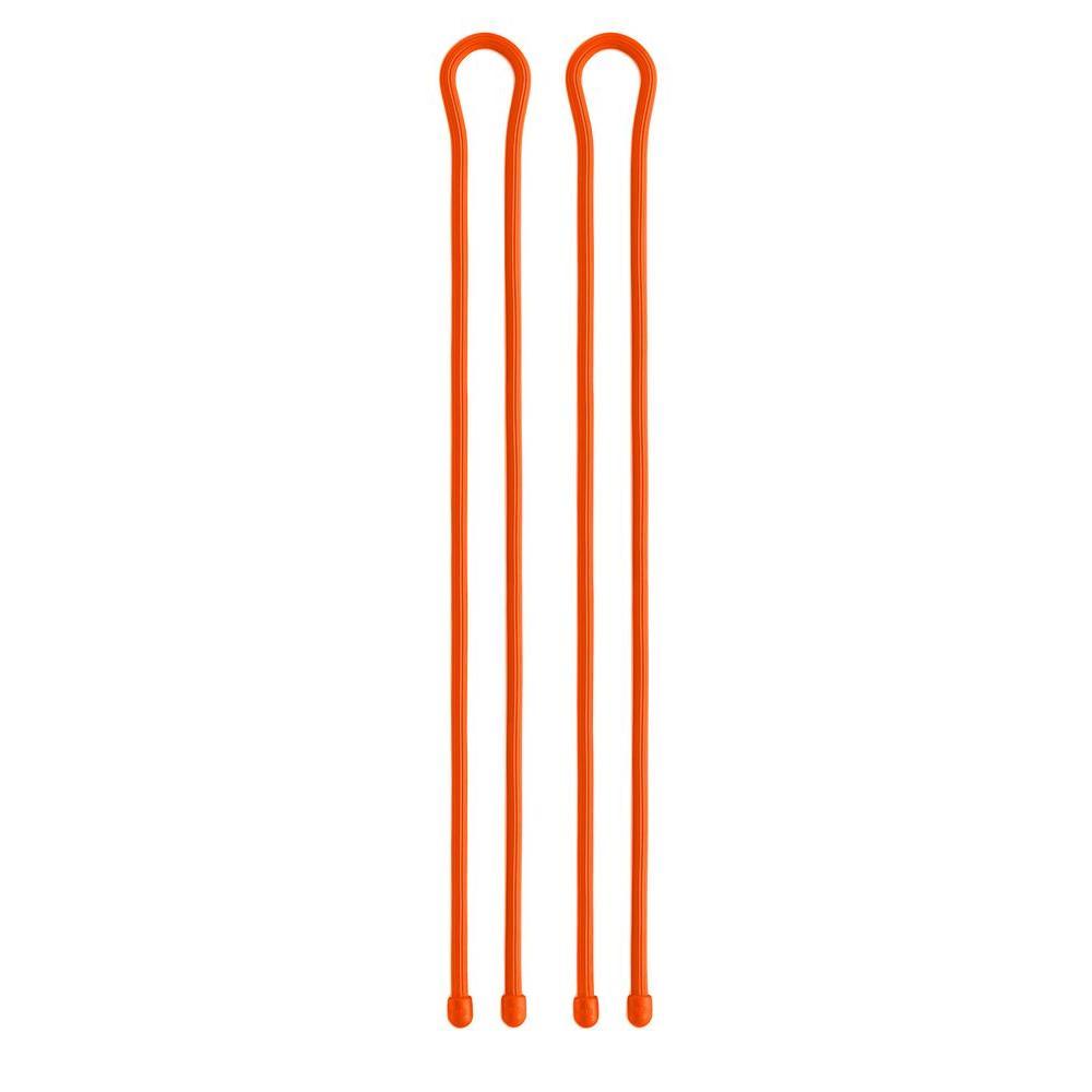 Nite Ize 32 in. Gear Tie in Bright Orange (2-Pack)