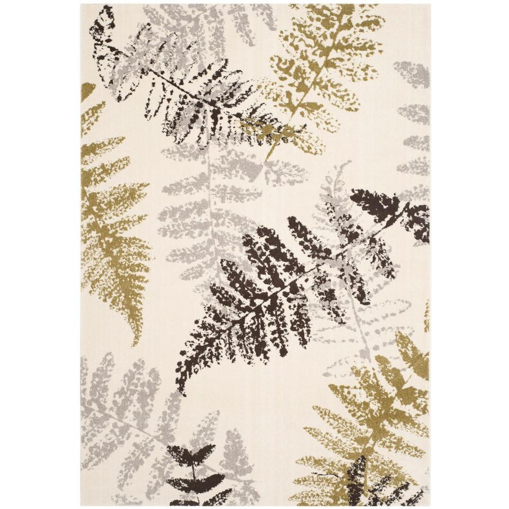 Safavieh Porcello Ivory/Light Grey 8 ft. x 11 ft. 2 in. Area Rug