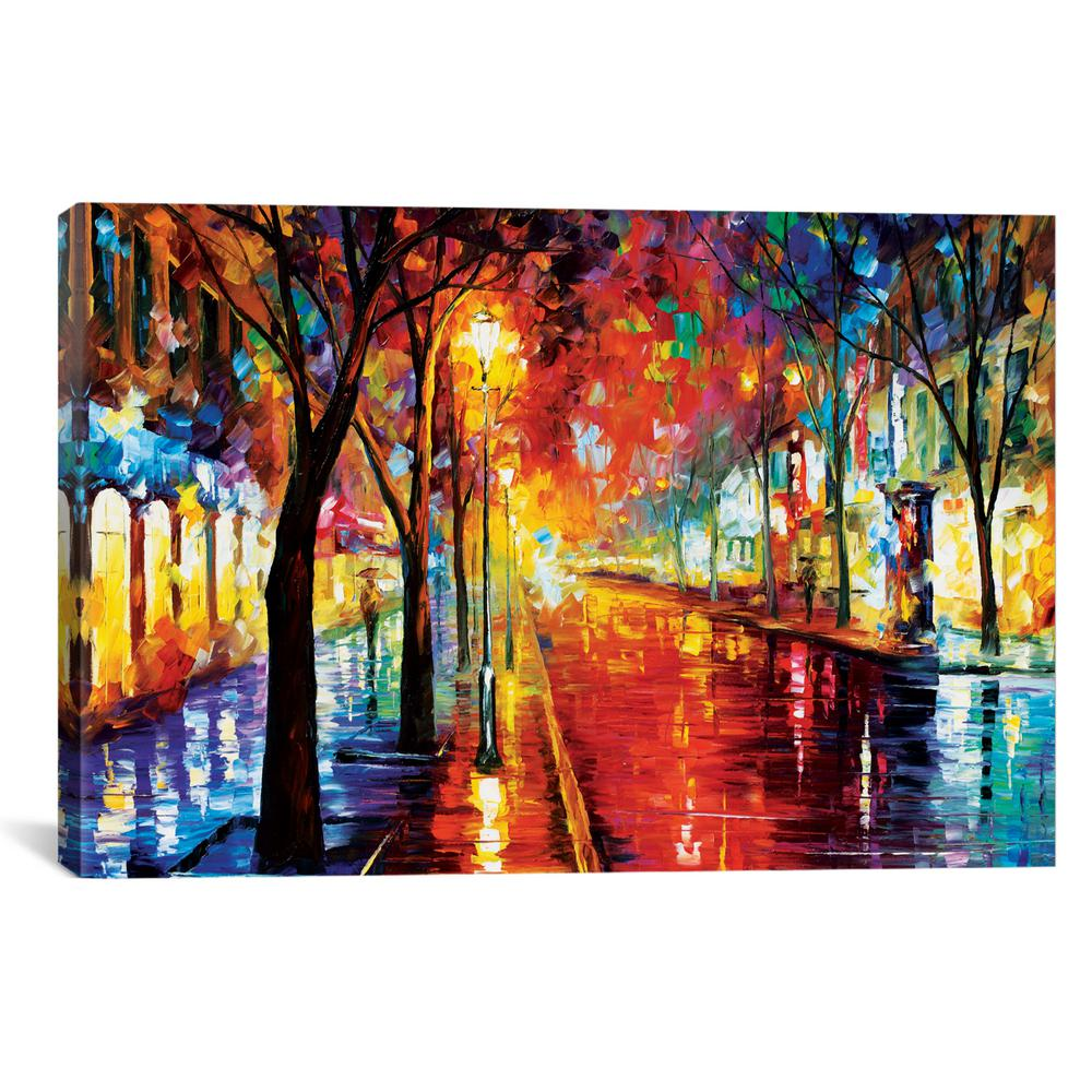 ICanvas Street Of The Old Town By Leonid Afremov Wall Art