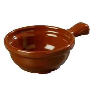 Click here to buy Carlisle 8 oz. 4.64 inch Diameter San Handled Soup Bowl in Lenox Brown (Case of 24) by Carlisle.