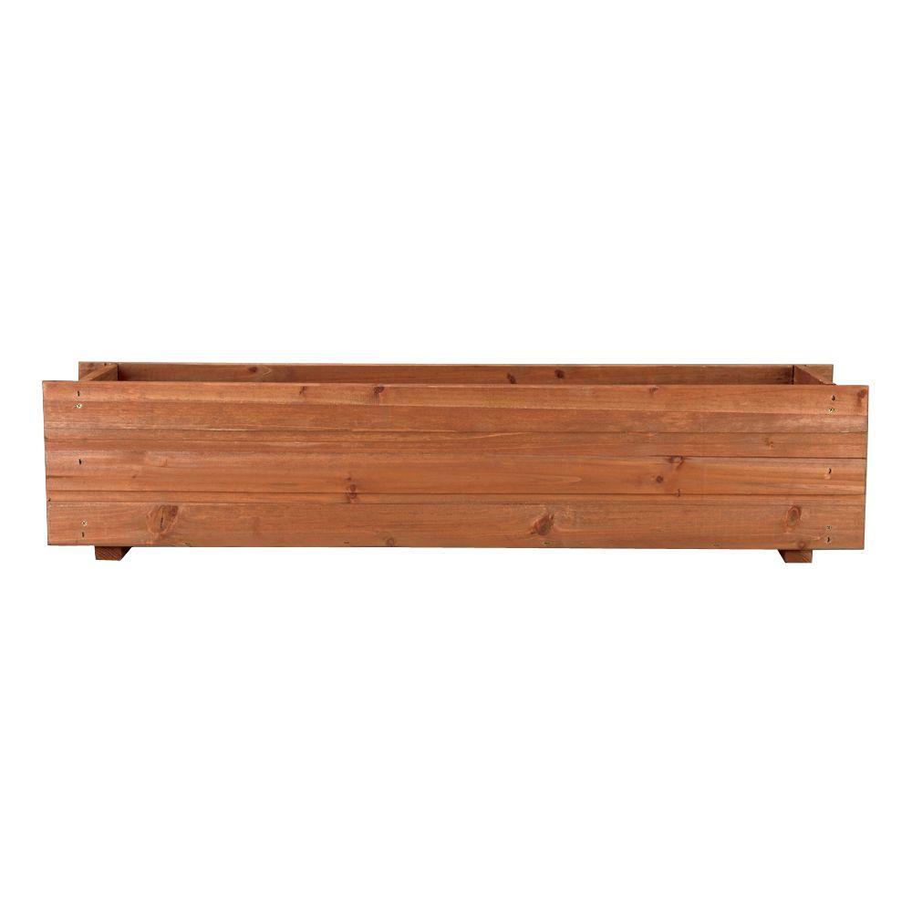 36 in. x 7 in. Wood Window Box (4-Case)