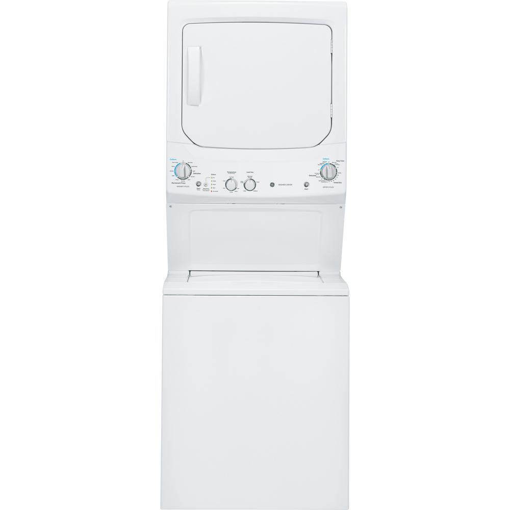 GE White Laundry Center with Wifi Connected Washer 3.8 cu. ft. and Dryer 5.9 cu. ft. Vented 120 Volt Gas Dryer