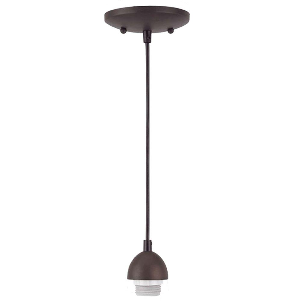 1 Light Oil Rubbed Bronze Adjustable Mini Pendant