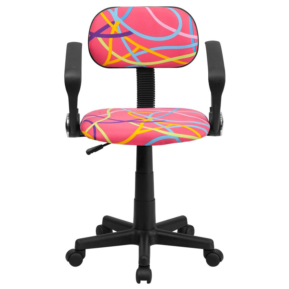 Cute childs office chair Daksh Carnegy Avenue Carnegy Avenue Multicolored Swirl Printed Pink Plastic Officedesk Chaircgabt9013muhd The Home Depot The Home Depot Carnegy Avenue Carnegy Avenue Multicolored Swirl Printed Pink
