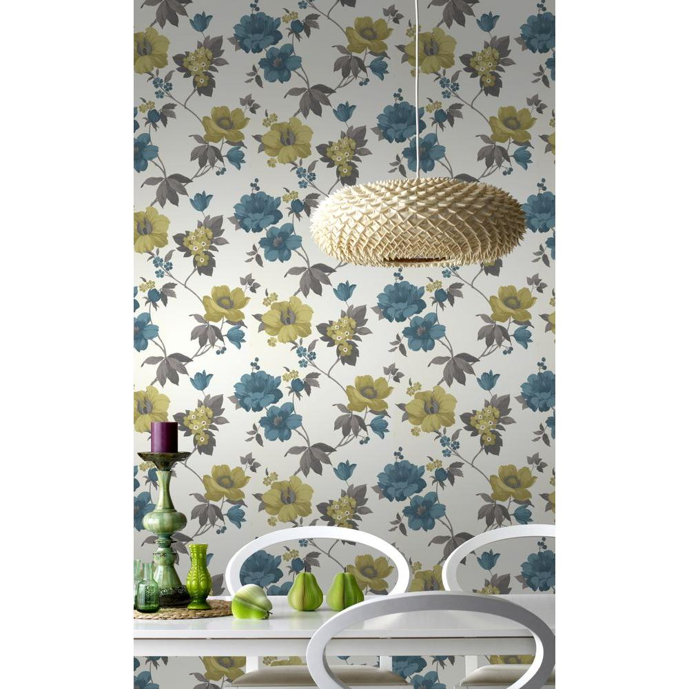 Graham Brown Eden Lime And Teal Removable Wallpaper 32