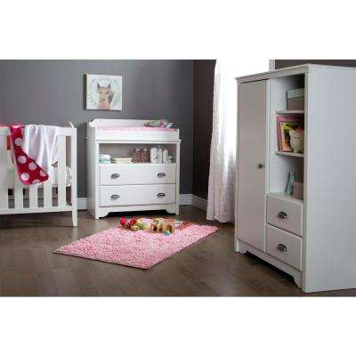 Fundy Tide 2-Drawer Pure White Changing Table