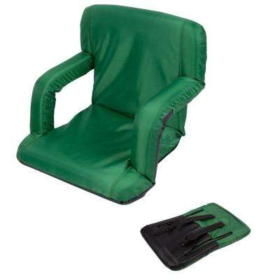 Portable Multiuse Adjustable Green Recliner Stadium Chair