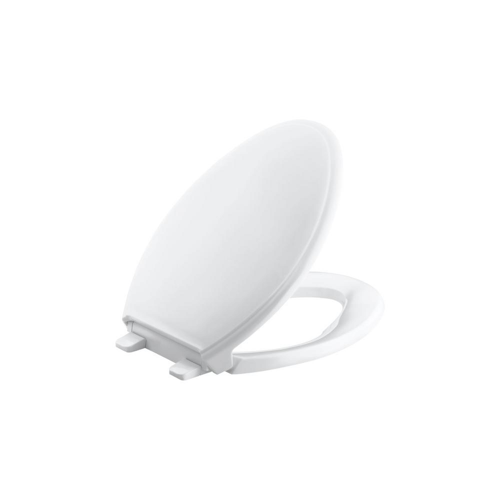 Glenbury Elongated Closed Front Toilet Seat in White