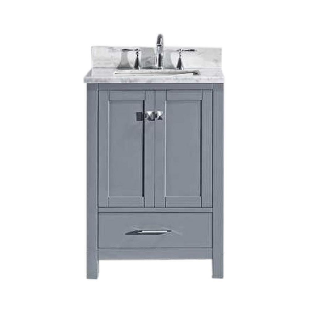 Caroline Avenue 24  24 Inch Vanities   Bathroom Vanities   Bath   The Home Depot. 24 In Vanity With Sink. Home Design Ideas