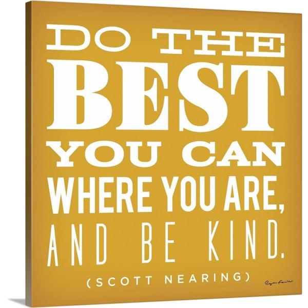 GreatBigCanvas ''Do the Best'' by Ryan Fowler Canvas Wall Art 1421062_24_24x24