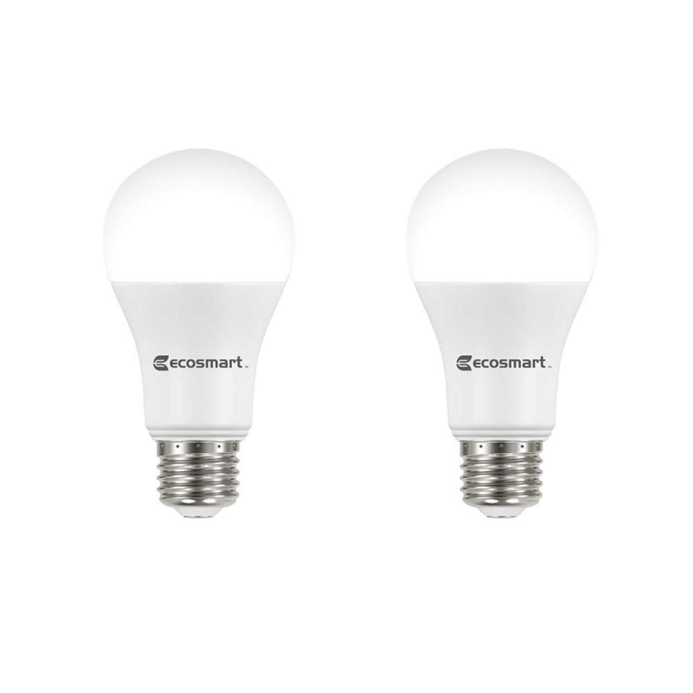 75-Watt Equivalent A19 Dimmable Energy Star LED Light Bulb Daylight (2-Pack)