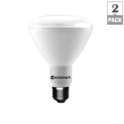 75W Equivalent Soft White BR30 Dimmable LED Light Bulb (2-Pack)