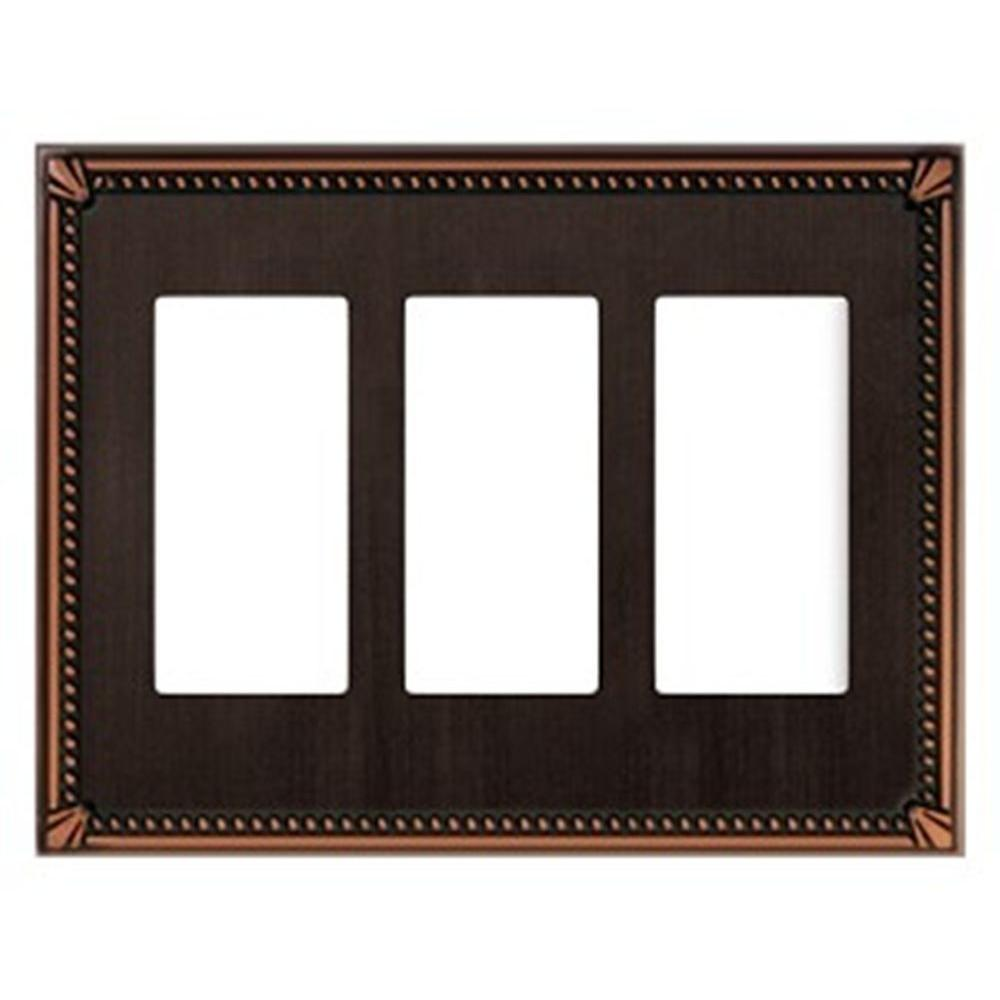 Creative Accents Imperial 3 Decorator Wall Plate - Antique Bronze-DISCONTINUED