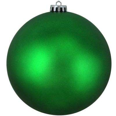Matte Xmas Green UV Resistant Shatterproof Christmas Ball Ornament