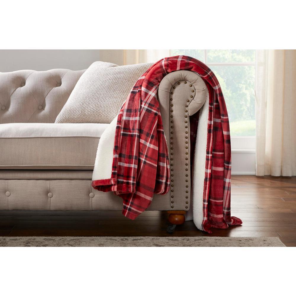 Oversized Plush Sherpa Throw Blanket
