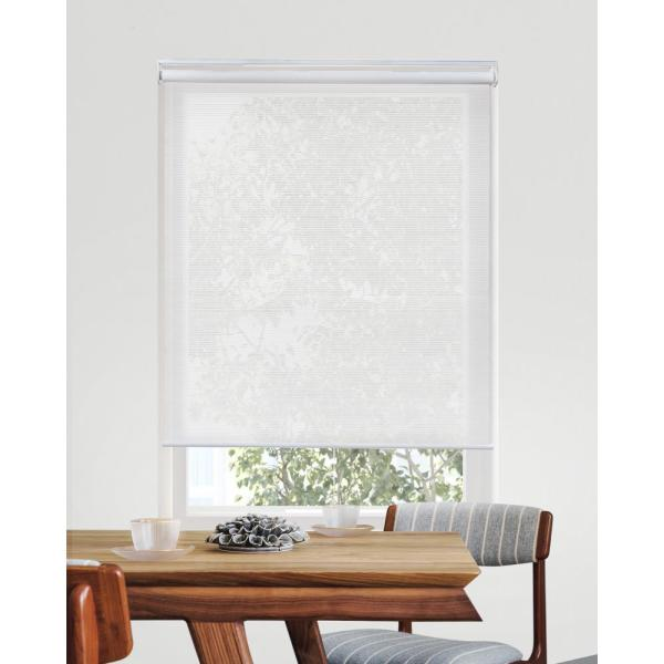 Chicology Snap N Glide View Tiful White Cordless Solar Uv Protection Vinyl Roller Shade 33 In W X 72 In L Rsvw3372 The Home Depot