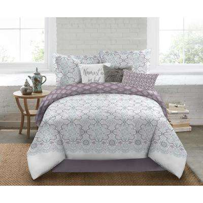 Nicole Miller 5-Piece Queen Multi Medallion Comforter Set