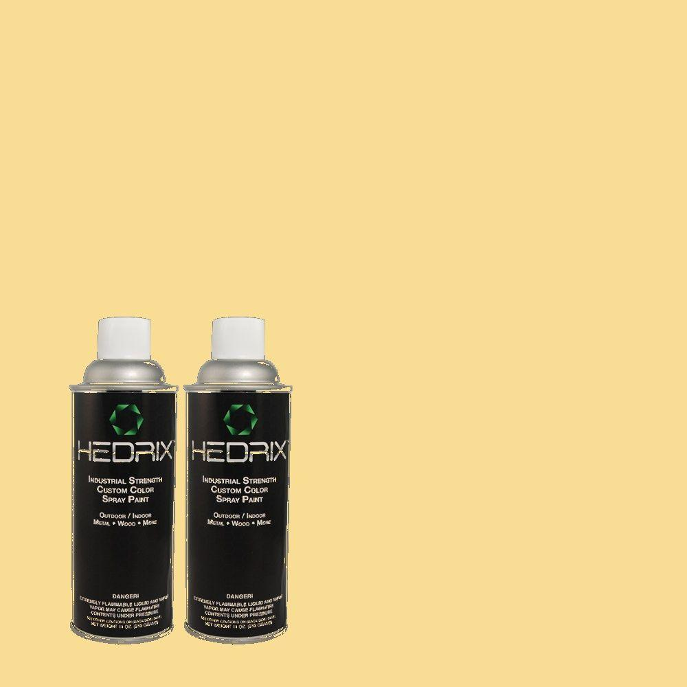 Hedrix 11 oz. Match of 360C-3 Honey Tone Semi-Gloss Custom Spray Paint (2-Pack)