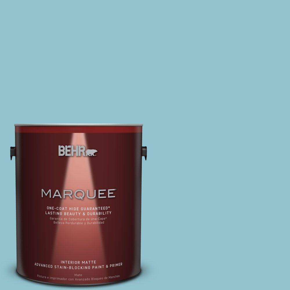 BEHR MARQUEE 1 gal. #MQ6-32 Cosmic Blue One-Coat Hide Matte Interior Paint