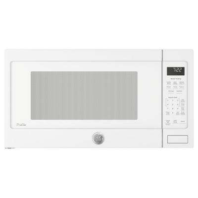 Profile 2.2 cu. ft. Countertop Microwave in White with Sensor Cooking