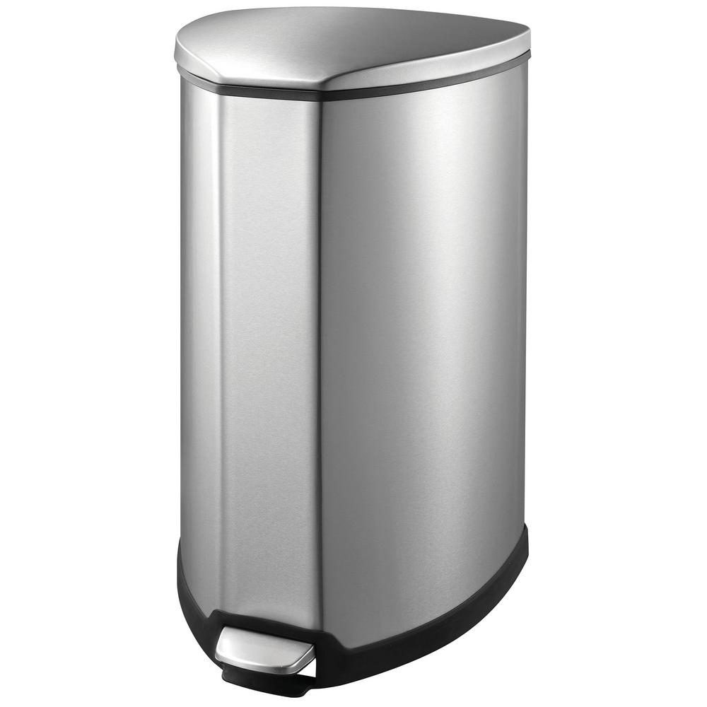 Household Essentials 9.25 Gal. Indoor Trash Can in Stainless-92093-1 ...