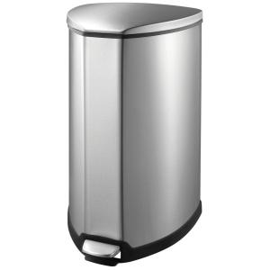 Household Essentials 9.25 Gal. Indoor Trash Can in Stainless-92093 ...