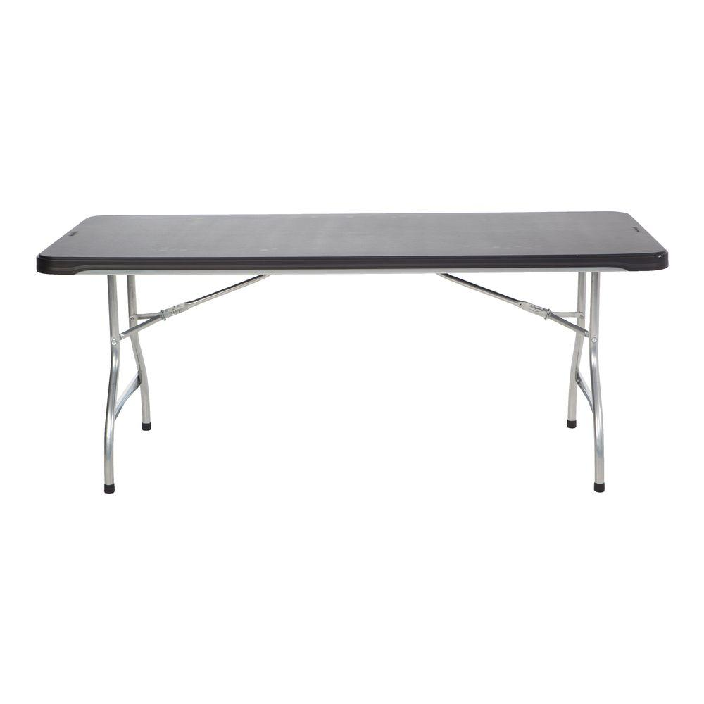 Lifetime 72 In Black Plastic Stackable Folding Banquet Table