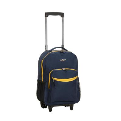 Rockland Roadster 17 in. Rolling Backpack, Navy