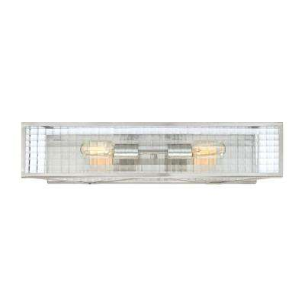 Pivot 2-Light Satin Platinum Interior Bath Vanity Light