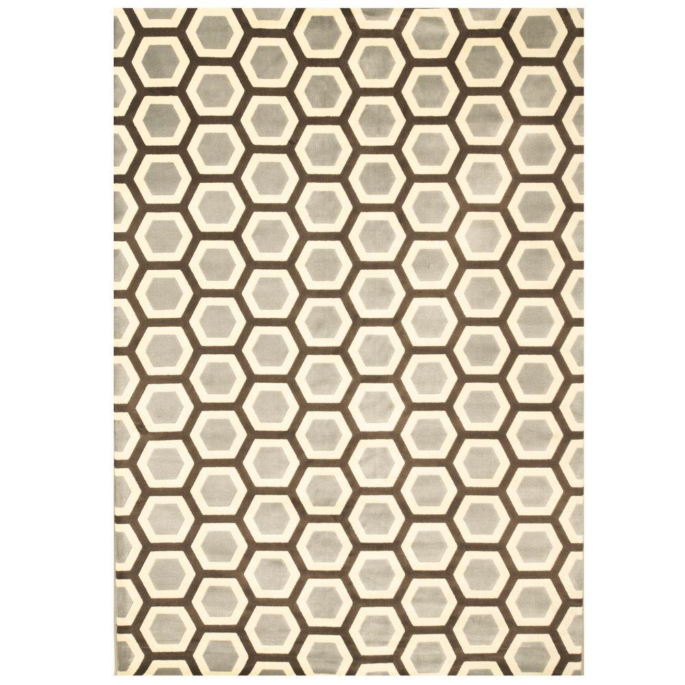 Sams International Sonoma Honeycomb Light Blue 5 ft. 3 in. x 7 ft. 6 in. Area Rug
