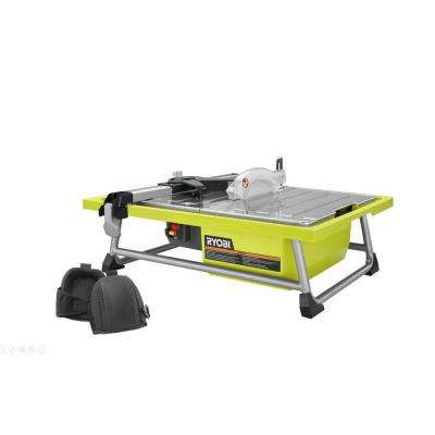 7 in. 4.8 Amp Tabletop Tile Saw with Comfort Knee Pads