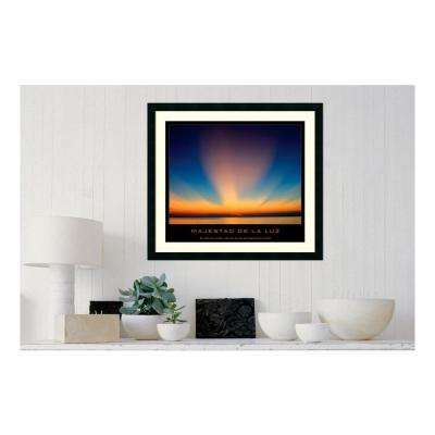 30.25 in. W x 27.13 in. H Majestad de la luz' Printed Framed Wall Art