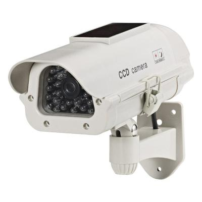 Wireless Dummy Solar Powered Camera with LED Light in Beige