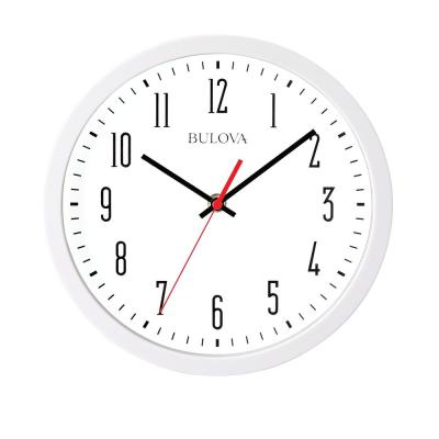 Automatic Time Adjustment 10.25 Wall Clock in White