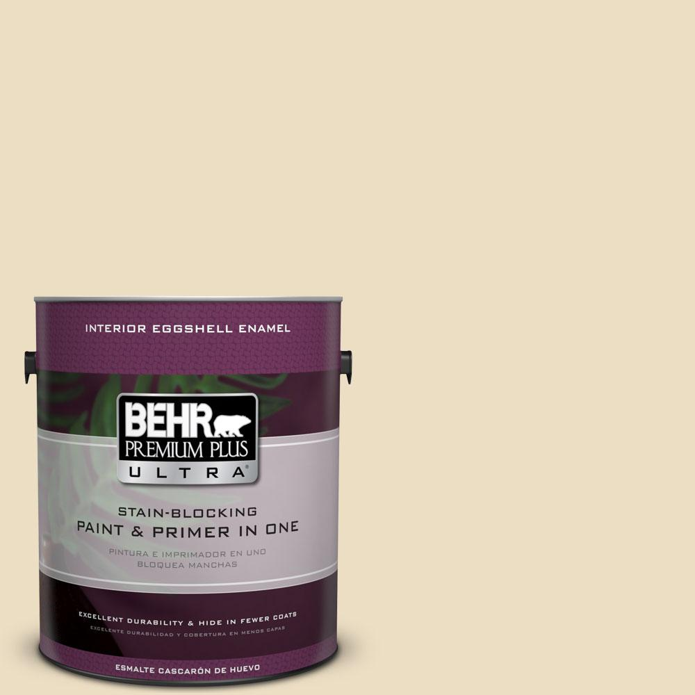 BEHR Premium Plus Ultra 1 gal. #22 Navajo White Eggshell Enamel Interior Paint