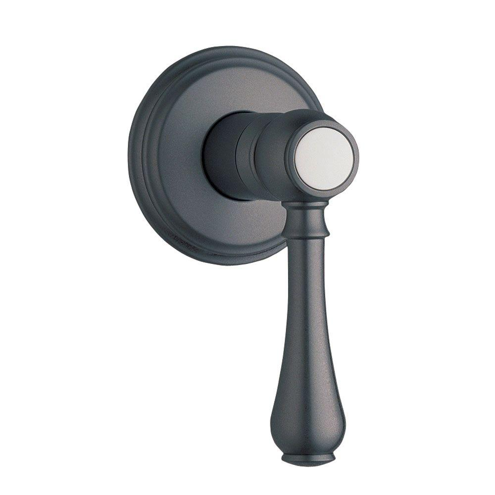 grohe geneva single handle volume control valve only trim kit in oil rubbed bronze valve sold. Black Bedroom Furniture Sets. Home Design Ideas
